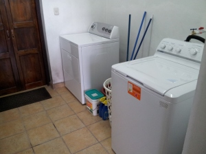 It's great to have our own washer and dryer again.