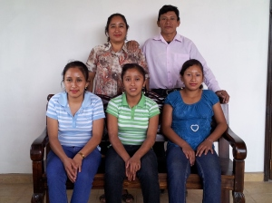 Olympia and Eusebio (rear), Martias, Sandra, Belky (front from L to R) Not pictured, their son Antonio