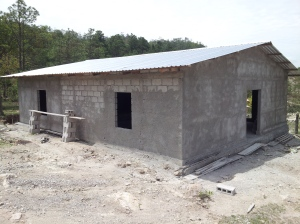 Here is the new church in Coalaca, one of two communities further along the road beyond Caiquin.